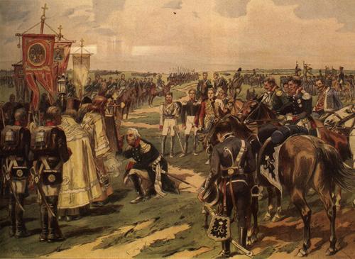Молебен перед Бородинским сражением