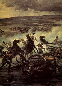 Атака на французскую батарею в Бородинской битве