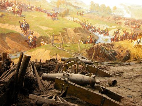 Атака на французскую батарею в сражении при Бородине